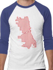 Chi City  Men's Baseball ¾ T-Shirt