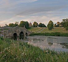Oxford Bridge, Stowe, Buckinghamshire. by Ian Leyland