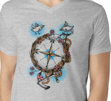 Nature's compass  Mens V-Neck T-Shirt