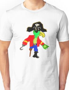 Silly Pirate Parrot Pete And His Cool Pirate Hat Unisex T-Shirt