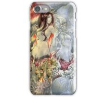 Chaos Sisters  Quelaag and Fair Lady (Quelan) iPhone Case/Skin