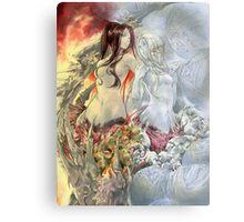 Chaos Sisters  Quelaag and Fair Lady (Quelan) Metal Print
