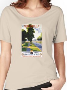 Versailles Vintage Travel Poster Restored Women's Relaxed Fit T-Shirt