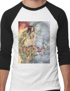 Chaos Sisters  Quelaag and Fair Lady (Quelan) Men's Baseball ¾ T-Shirt