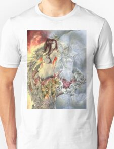 Chaos Sisters  Quelaag and Fair Lady (Quelan) Unisex T-Shirt