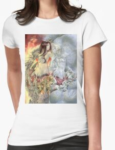 Chaos Sisters  Quelaag and Fair Lady (Quelan) Womens Fitted T-Shirt
