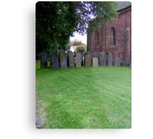 Sheltered grave stones Metal Print