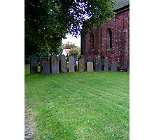 Sheltered grave stones Photographic Print