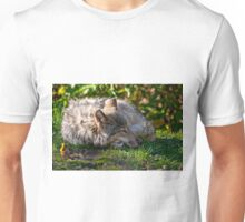 Sleeping Timber Wolf Unisex T-Shirt