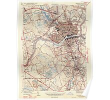 Massachusetts  USGS Historical Topo Map MA Lawrence 351826 1944 31680 Poster