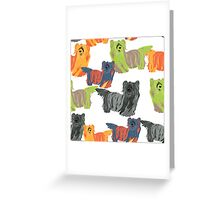 dog Skye Terrier pattern Greeting Card