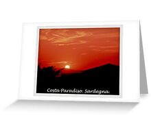 Costa Paradiso sunset. Sardinia.Italy.Brown Sugar 2003. Greeting Card