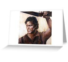 Bruce Campbell V.S Army of Darkness Greeting Card