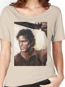 Bruce Campbell V.S Army of Darkness Women's Relaxed Fit T-Shirt