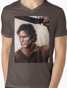 Bruce Campbell V.S Army of Darkness Mens V-Neck T-Shirt