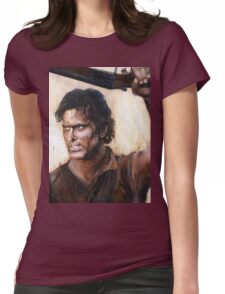 Bruce Campbell V.S Army of Darkness Womens Fitted T-Shirt