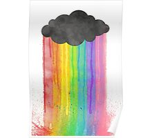 """Rainbow Rain"" watercolour design Poster"