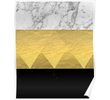 Stacked - gold foil black and marble cell phone case golden urban minimal retro modern city hipster  Poster