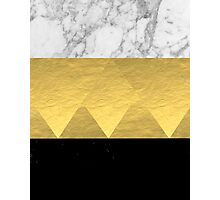 Stacked - gold foil black and marble cell phone case golden urban minimal retro modern city hipster  Photographic Print
