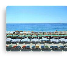 Colorful Cinque Terre Beach Canvas Print