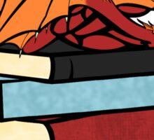 Bookworm? Please, I'm a book dragon. Sticker