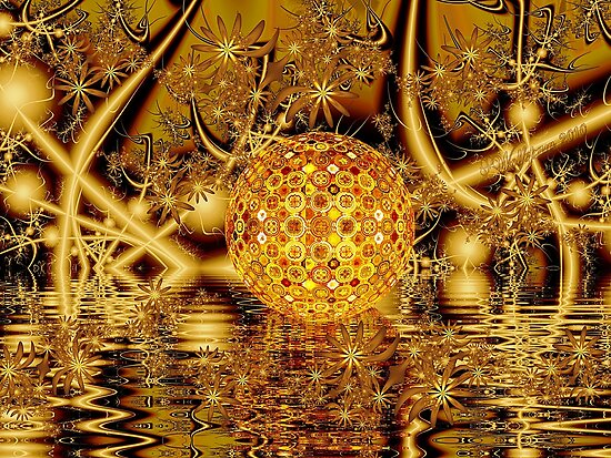 Golden Gnarl Ball in Fairyland by wolfepaw