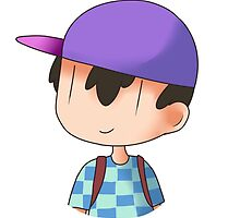 Checkered Shirt Ness by sp00ky-skeleton