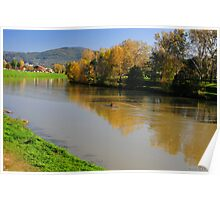 Firenze ... Il Fiume Arno - Florence ...The River Arno Poster