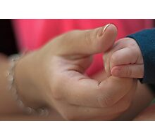 A mothers touch Photographic Print