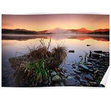 Loch Ard,  sunrise on Ben Lomond Poster