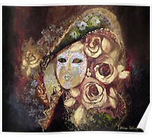 Mask with roses Poster