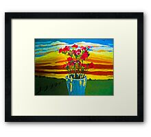 May your days be filled with flowers Framed Print