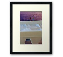 Although Shane is anxious to try his hand at ice fishing, his wife Regenia doesn't see the lure. Framed Print