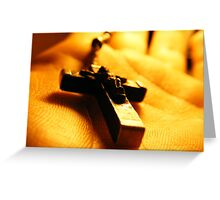 Cross in your hand Greeting Card