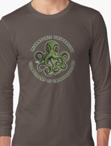 Cthulhu Tee- Cryptozoology Dept. Long Sleeve T-Shirt