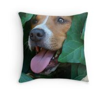 Hiding in the vines Throw Pillow