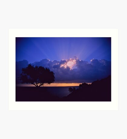 """ Ave Maria ""  sanrise  landscape  -  Zakintos . Greece. by  Brown Sugar. Views (719). Favs (5) . Thanks friends !!!!!! Art Print"