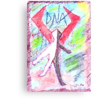 DNA Canvas Print