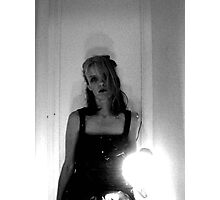Irritated Object with Light in Vinyl D&G Dress  Photographic Print