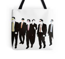Reservoir Dogs with colored ties and glasses Tote Bag