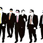 Reservoir Dogs with colored ties and glasses by Sleevezipper