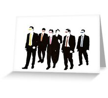 Reservoir Dogs with colored ties and glasses Greeting Card