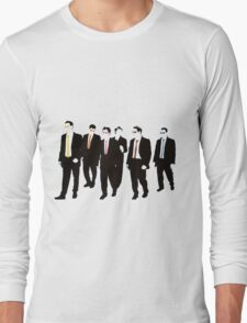 Reservoir Dogs with colored ties and glasses Long Sleeve T-Shirt