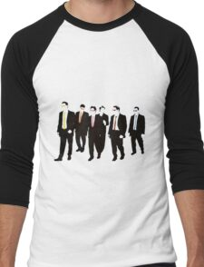 Reservoir Dogs with colored ties and glasses Men's Baseball ¾ T-Shirt
