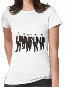 Reservoir Dogs with colored ties and glasses Womens Fitted T-Shirt