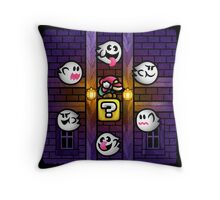 Boos in the Haunted House Throw Pillow