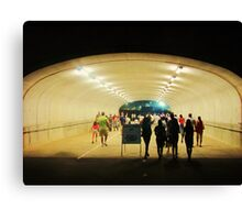 tunnel pedestrians Canvas Print