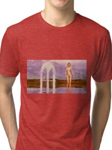 Nude Landscape by Mary Bassett  Tri-blend T-Shirt