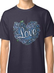 Love heart in blue Classic T-Shirt