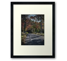 Hayfield Road (looking downhill) Framed Print